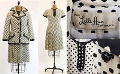 Lilli Ann Rare Vintage 60s mod Dress & Jacket suit
