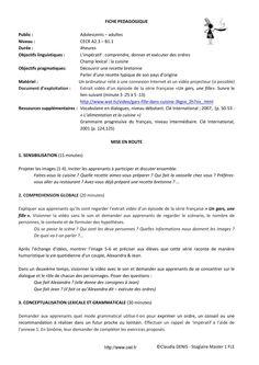 Fiche pedagogique fle impératif  Fiche pédagogique FLE impératif réalisée par Claudia DENIS dans le cadre de son stage en Master au www.ciel.fr