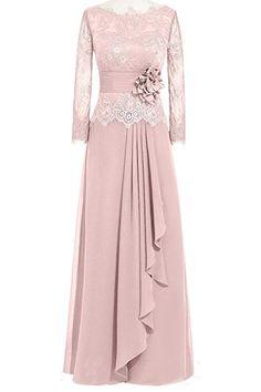 Shop Orient Bride Women Lace Chiffon A-Line Formal Evening Dresses Long Sleeves Size UK Watermelon. Dress Brokat, Kebaya Dress, Muslim Fashion, Hijab Fashion, Fashion Dresses, Islamic Fashion, Cute Dresses, Beautiful Dresses, Prom Dresses
