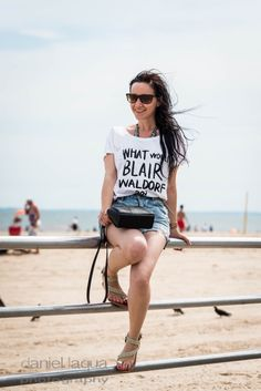 What would Blair Waldorf do? : Statement shirt and beach day