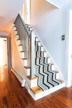 DIY Home Improvement On A Budget - DIY Stair Makeover - Easy and Cheap Do It Yourself Tutorials for Updating and Renovating Your House - Home Decor Tips and Tricks, Remodeling and Decorating Hacks - DIY Projects and Crafts by DIY JOY http://diyjoy.com/diy-home-improvement-ideas-budget