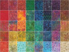 De La Sol Batiks Charm Pack - Moda Fabrics - Moda Fabrics — Missouri Star Quilt Co.