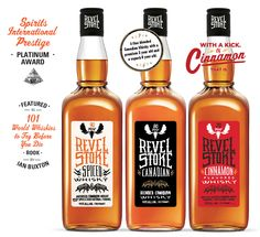 The award-winning whiskey uses a blend of Ceylon and Saigon cinnamon to create their signature taste Fireball Whiskey, Whiskey Bottle, Alcohol Mixers, Cute Business Cards, Spirit Drink, Distillery, Bartender, Whisky, Whiskey
