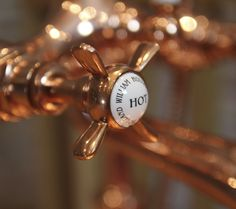 Finishing Touches! William Holland Copper Taps - Manual bath and shower mixer…