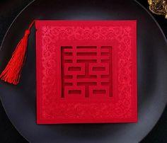 Customized Chinese Wedding Invitation Cards
