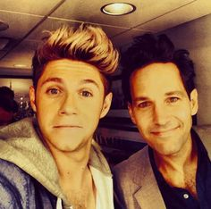 And this picture with Paul Rudd. | 30 Times Niall Horan Was The Most Perfect Member Of One Direction In 2013