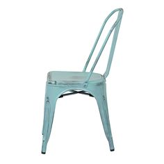 Bristow Antique Sky Blue Armless Chair, Set Of 4 Office Star Products Side Chairs Dining C