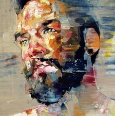 I am in awe of these very expressive and deeply emotional oil painting portraits of Andrew Salgado. These roughly hewn works seem to capture the essence of Salgado's subjects.  You feel a connection to them, and get a sense of the atmosphere, personality and narrative behind the faces. They feel more immediate and real than a hyper-realistic portrait would.
