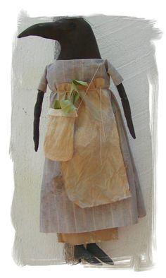 Primitive Crow Herb Ladye OFG by LaceyJane on Etsy, $28.00