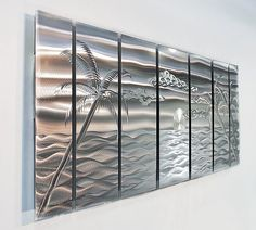 Reminds me of Jamaica.  Metal Abstract Wall Art / Multi Panel Sculpture by statements2000, $325.00