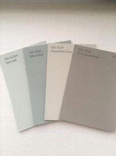 Farmhouse Living Room Paint Colors Sea Salt Ideas For 2019 Kitchen Colour Schemes, House Color Schemes, Kitchen Paint Colors, Bedroom Paint Colors, Interior Paint Colors, Paint Colors For Living Room, Paint Colors For Home, Living Room Grey, Bathroom Colors