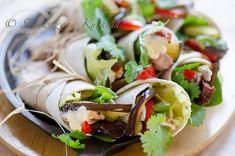 Tortille z tuńczykiem i grillowanym bakłażanem