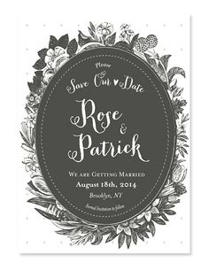 Lovely romantic wedding invitation inspired by Jane Wedding Photos Ideas Wedding Invitation Samples, Wedding Card Templates, Invitation Design, Wedding Cards, Invites, Charcoal Wedding, Laurel Wreath, Youre Invited, Wedding Inspiration