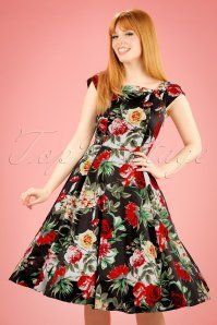 Hearts and Roses Navy Rose Floral Swing Dress 102 39 19991 20170216 0012W