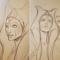 Ahsoka Tano Sketches