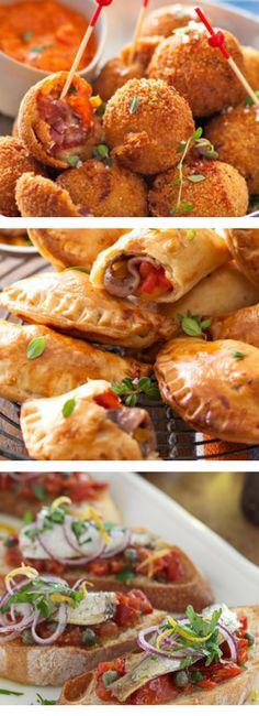 Tapas Recipes, Appetizer Recipes, Appetizers, Cooking Recipes, Empanadas, Samosas, Buffet, Antipasto, Spanish Food