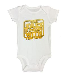 """Cute Baby Onesie  """" The Sass is Strong With This One """"  Movie Boutique Shirt - Star Wars Onesie - Bodysuit - Toddler And Sleeve Option - 490"""