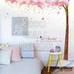 PEEL and STICK Kids Nursery Removable Vinyl Wall by EcoWallDecor