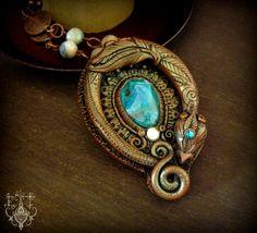 Chrysocolla Dragon by EnchantedTokenArt.deviantart.com on @deviantART