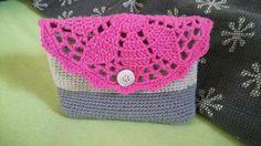 Hæklet lille taske :)