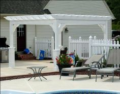 12' x 24' Vinyl Deluxe 4-Beam Pergola by Fifthroom. $8199.00