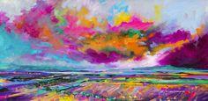 'Colour Cloud' Print Hand Signed By Julie