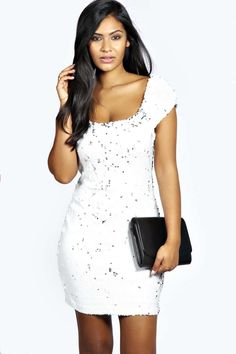 Women#039;s Ladies Gorgeous Glam Long Sleeved Sequin Bodycon