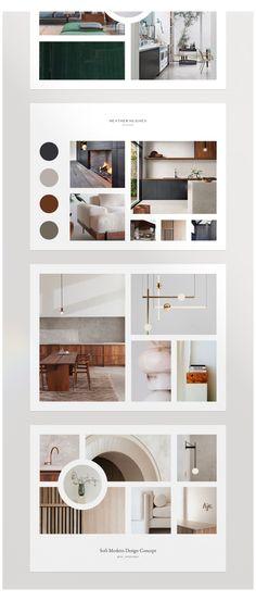 Portfolio Design Layouts, Layout Design, Interior Design Layout, Interior Design Portfolios, Interior Design Images, Interior Design Boards, Interior Concept, Web Design, Moodboard Interior Design