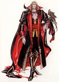 Count Dracula from Castlevania: Symphony of the Night. From the SOTN Artbook released with the game's special edition.