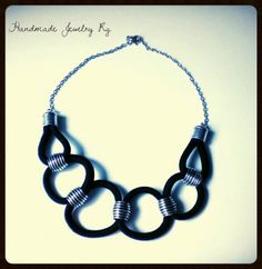 Handmade Jewelry Rg: Necklace black silver
