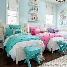2 Kişilik Kız Çocuk Odası Modelleri