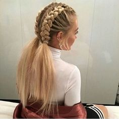 This schoolgirl favorite is all grown up. See the 12 new braided hairstyles we c… This schoolgirl favorite is all grown up. See the 12 new braided hairstyles we c…, This schoolgirl favorite is all grown up. See the 12 new braided hairstyles we c. New Braided Hairstyles, Pretty Hairstyles, Girl Hairstyles, Trending Hairstyles, Stylish Hairstyles, Hairstyle Ideas, Braided Hairstyles For School, Office Hairstyles, Teenage Hairstyles