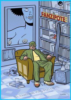 """Portada del """"Fanzipote: el fanzine más potente"""" nº. 3, de Juan Cubo Román y VV.AA., en #ComicSquare #comics #fanzine #elfanzinemaspotente #juancubo #juanroman #vvaa #tebeo #historieta #fanzinedecomic #fanzipote3 Disponible en: http://www.comicsquare.com/es/comic/fanzipote-3-3"""