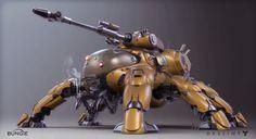 Destiny: Devil Walker by Mark Van Haitsma. More robots here. Destiny Bungie, Destiny Game, Destiny Hunter, Zoids, Destiny Fallen, Killzone Shadow Fall, Sci Fi Models, Robot Concept Art, Cyborgs
