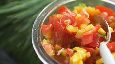 Salsa de tomates et mangue à la lime - Recettes - À la di Stasio Pot Luck, Quebec, Salsa Tomate, Cold Meals, Veg Recipes, Vegan, Salads, Bbq, Appetizers