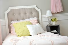 You can make this classy and beautiful DIY Tufted Headboard yourself. With easy to follow step by step instructions and photos. You will love it!