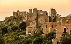 Towers in the medieval village Vathia near Areopoli Lakonia Peloponnese Travel Around The World, Around The Worlds, Tower House, Stone Path, Stone Houses, Greek Gods, Monument Valley, Countryside, In This Moment