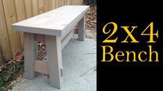 Bench Made From 2x4's (CMRW#27)