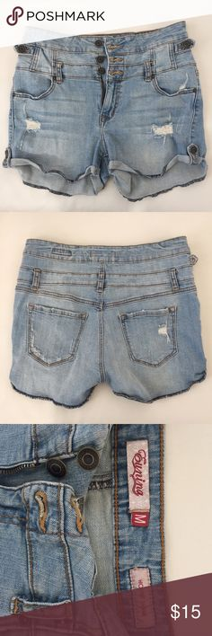 🎆🎉EUNINA high rise shortie shorts Distressed denim cut-offs that are perfect for spring and summer. Can also be worn in slightly cooler temps with tights or leggings. Eunina Shorts Jean Shorts