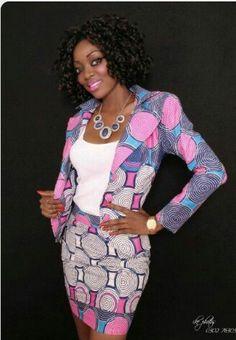 Kitenge Blazers For Ladies Styles 2017 ⋆ African Inspired Fashion, African Print Fashion, Africa Fashion, Fashion Prints, Love Fashion, Fashion Outfits, Womens Fashion, Fashion Design, Fashion Styles