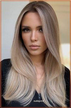 Dark Blonde Hair Color, Blonde Hair Looks, Brown Blonde Hair, Hair Color Balayage, Cool Hair Color, Beige Hair Color, Cool Toned Blonde Hair, Black Hair, Brunette With Blonde Balayage