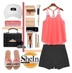"""shein"" by arohii ❤ liked on Polyvore featuring Kate Spade, Bobbi Brown Cosmetics, Chanel, Clinique, Stila, polyvorefashion and shein"