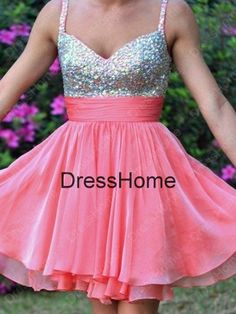 Short Homecoming Dress Coral Homecoming Dresses