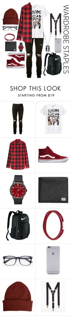 """All for that plaid"" by mariar559 ❤ liked on Polyvore featuring AMIRI, Bioworld, Dsquared2, Vans, Ted Baker, Dolce&Gabbana, NIKE, Tateossian, Native Union and Paul Smith"