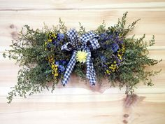 Horizontal Dried Flower Spray/Swag by theflowerpatch on Etsy