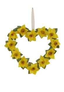 Felt Daffodil Wreath