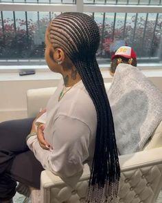 Braided Cornrow Hairstyles, Big Box Braids Hairstyles, Hair Ponytail Styles, Braids Hairstyles Pictures, Braided Hairstyles For Black Women, African Braids Hairstyles, Braids For Black Hair, Pretty Hairstyles, Cornrow Ponytail