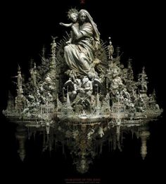 The painfully intricate assemblages of artist Kris Kuksi Designer Couch, Queen Of Heaven, Assemblage Art, Religious Art, Catholic Art, Our Lady, American Artists, Creative Art, Missouri