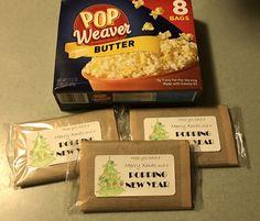 Poppin New Year popcorn gift