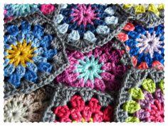 colors for a round granny square
